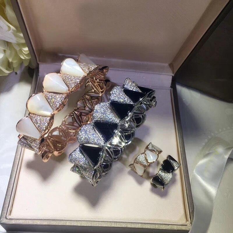 Conjunto de fiesta de Zirconia cúbica 3A de joyería de cobre de moda de diseñador-in Conjuntos de joyería from Joyería y accesorios    1