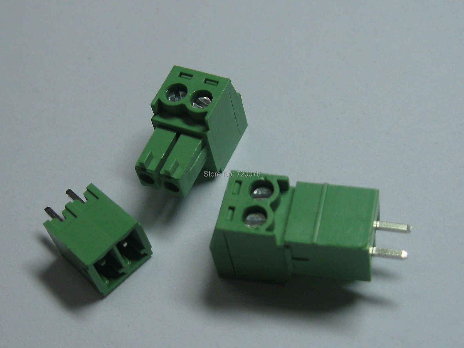 12 шт. винтовой клеммный блок соединитель 3,5 мм 2 pin/way зеленый подключаемый Тип