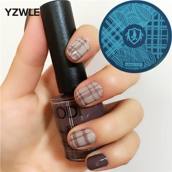 YZWLE 1 Pcs Stamping Nail Art Image Plate, 5.6cm Stainless Steel Nail Stamping Plates Template Manicure Stencil Tools (hehe-028)