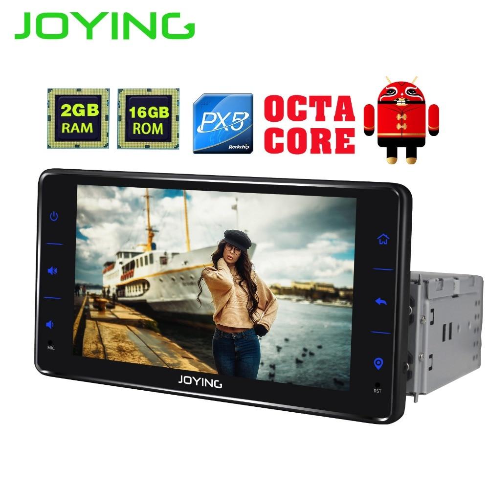 6.2 Joying Unique 1 Din PX5 Octa Core 2 GB + 16 GB Universel De Voiture Audio Stéréo Radio Multimédia lecteur GPS Cône Enregistreur Tête Unité.