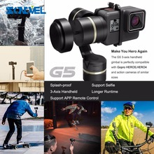 Feiyu G5 Handheld Gimbal for GoPro HERO5 5 4 Xiaomi yi 4k SJ AEE Action Cams of varies weigh Splashproof Humanized