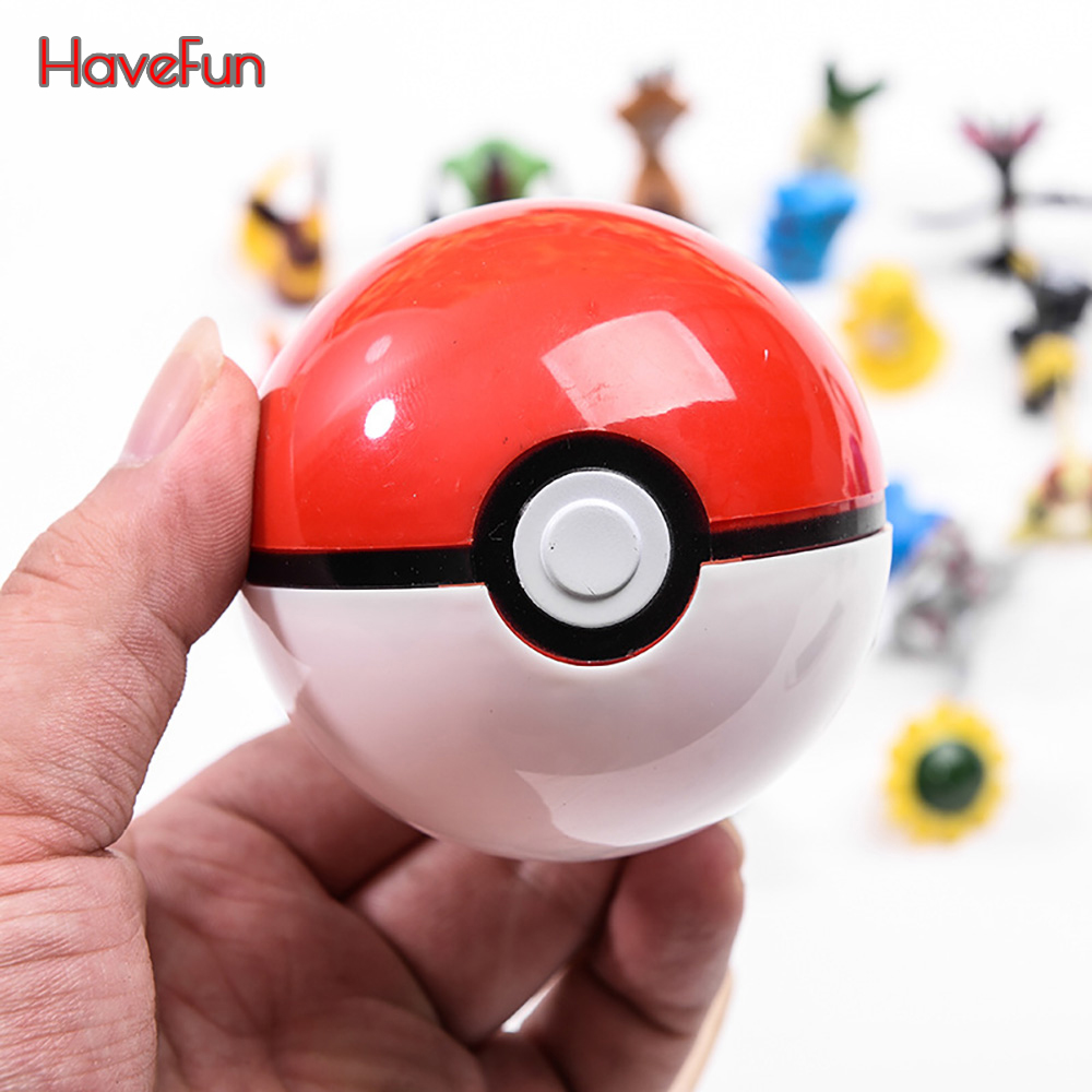 1Pcs Pokeball + 1pcs Random Figure Inside Figures Toys For Childern 13 Kinds Of Ball And 100 Kinds Action Figures Drop Shipping