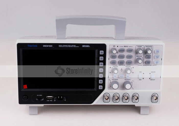 Hantek DSO4102C Digital Multimeter Oscilloscope USB 100MHz 2 Channels LCD Display Osciloscopio Portatil Waveform Generator