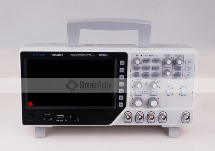 Hantek DSO4102C Multimetro Digitale Oscilloscopio USB 100 mhz 2 Canali Display LCD Osciloscopio Portatil Generatore di Forme D'onda