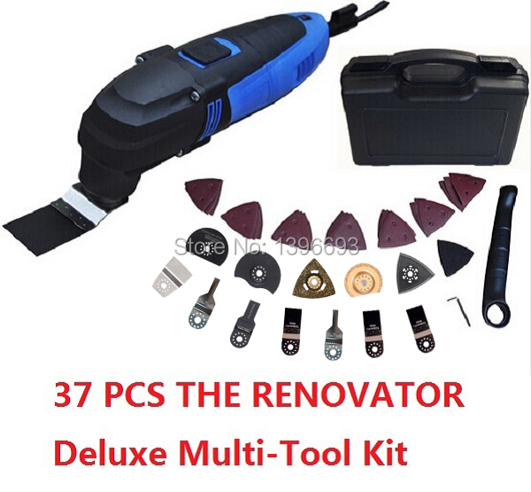 110v type with US plug Renovator Deluxe Multi-Tool Kit ,with 37 accessories Storage case.Oscillating multi-tool. multi-function multi function green