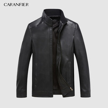 CARANFEIR Winter Mens Genuine Leather Jackets Brand Real 100% Sheepskin Coat Jaqueta Couro Male Jacket for Men