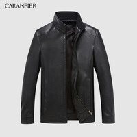 CARANFEIR Winter Mens Genuine Leather Jackets Brand Real 100% Sheepskin Coat Jaqueta Couro Male Genuine Leather Jacket for Men