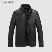 CARANFEIR hiver hommes vestes en cuir véritable marque Real 100% manteau en peau de mouton Jaqueta Couro mâle veste en cuir véritable pour hommes