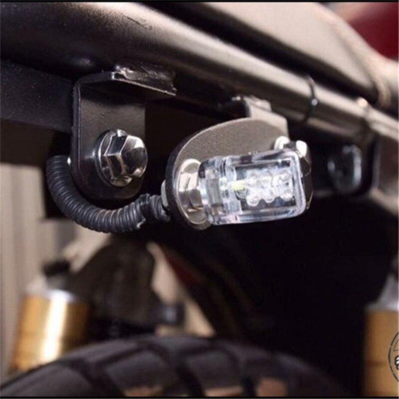 4 Pcs Motorcycle LED Turn Signal Light Amber Modified Mini Motorbike Indicators Lights Retro Motocross LED Turn Signals Lights
