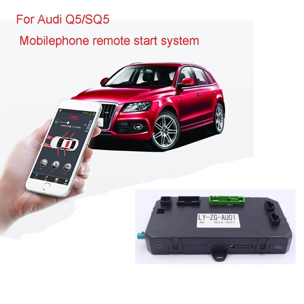 Démarreur d'allumage de moteur de voiture sans clé PKE un système de démarrage par bouton-poussoir pour Audi Q5/SQ5 (année 2010-2014.12)