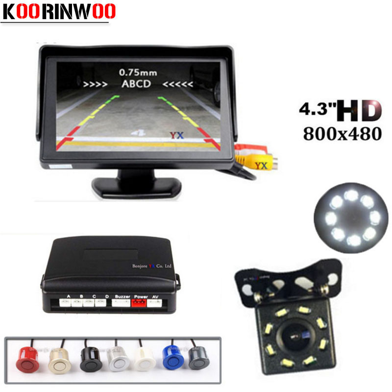 KKmoon Waterproof Car Reversing Camera with Parking Aid 8 LED Night Vision