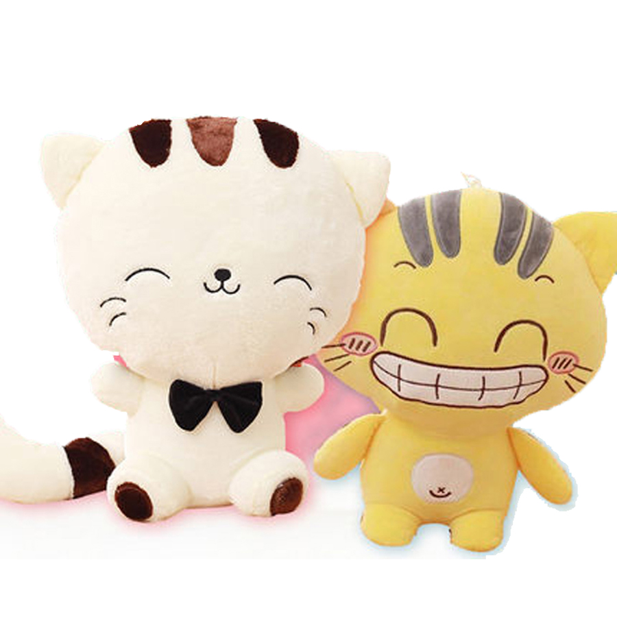 Soft Toys Cartoon : Cute cartoon cat pillow plush soft toys animal doll