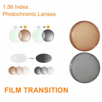 1.56 Index Prescription Photochromic Lenses Transition Grey Brown Lenses for Myopia/Hyperopia Anti UV Anti Glare Sunglasses Lens - DISCOUNT ITEM  10% OFF All Category