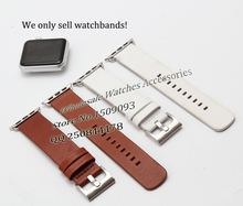 Genuine leather watchband Strap Band with Adapters fit 38mm 42mm Apple smart Watch Replacement iwatch Accessories anytime