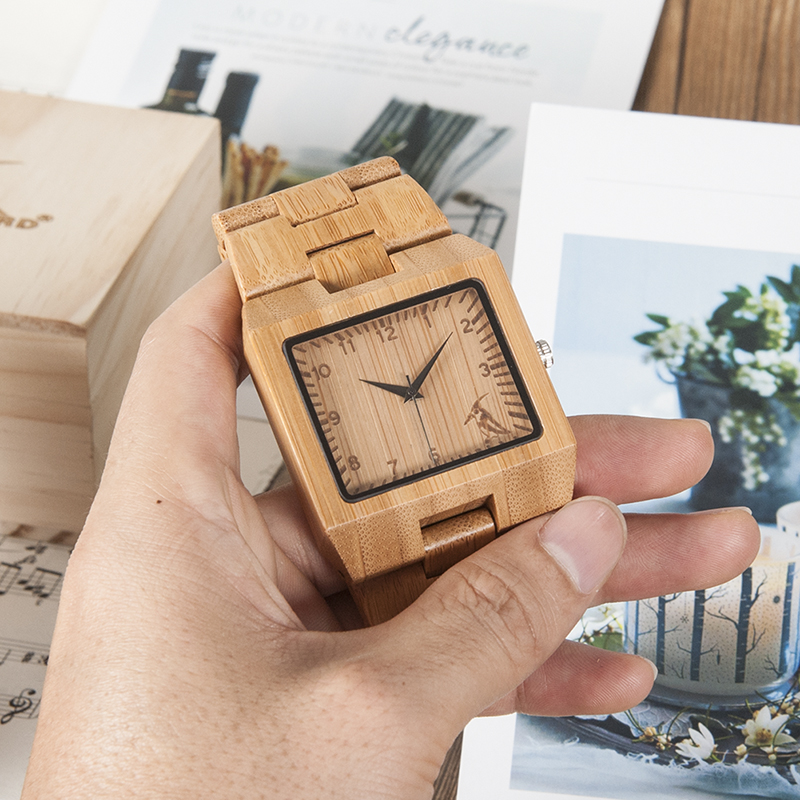 Wood Men Watch Male BOBO BIRD Wooden Quartz WristWatches Relogio Masculino Bamboo In Gift Box Erkek Kol Saati
