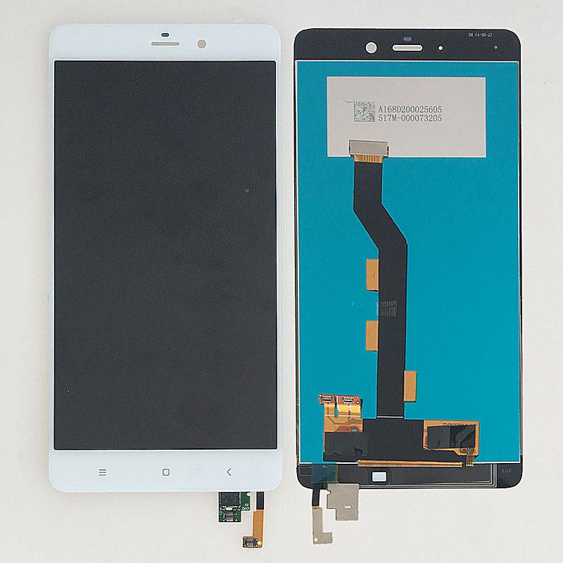 Prix pour NOUVEAU 5.7 ''Blanc Écran lcd Écran Tactile Digitizer Assemblée Verre Pour Xiaomi Mi Note Remplacement