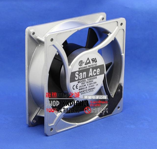Original 100 V 0.18/0.16A 109S005 moldura de alumínio 12038 12 CM fã