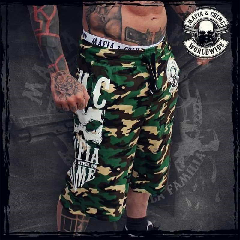 Mens Summer Fitness Camouflage Shorts Fashion Casual Calf-Length Sweatpants Male Joggers Workout Cotton Brand Short Trousers