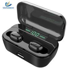 YEINDBOO TWS T6 Wireless Earphone Bluetooth 5.0 Earphones 3500 mAh Power bank Led Display noise reduction Sport Headset