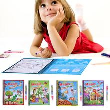 Reuse Water Paint Coloring Book with Magic Doodle Pen Magic Water Drawing Book Kids Animals Drawing