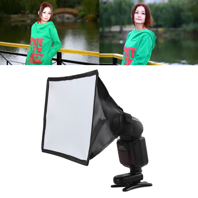 Universal Flash Diffuser Softbox Silver Reflector Mini Professional Photo Diffuser Soft Light Box For Canon Nikon Sony Camera universal soft screen pop up flash diffuser for nikon canon pentax olympus camera soft diffuser plastic diffuser softer 10d 20d