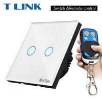 TLINK Remote Control Switch 2 Gang 1 Way SY2 02 Smart Wall Touch Switch LED Indicator