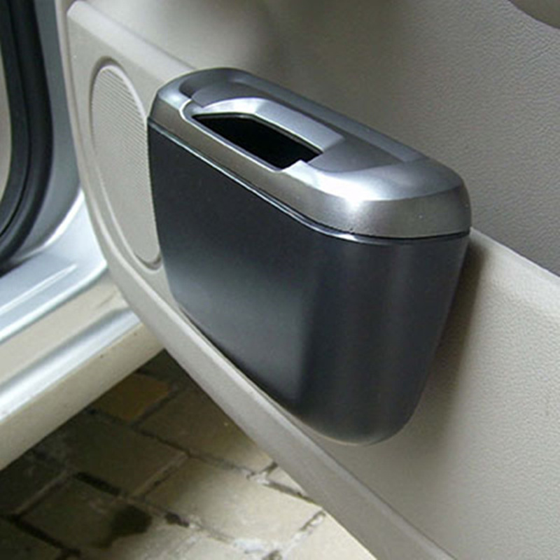 Hot new car trash holder Attractive garbage bin rubbish storage box Container trash can with lid cleaning supplies(China)