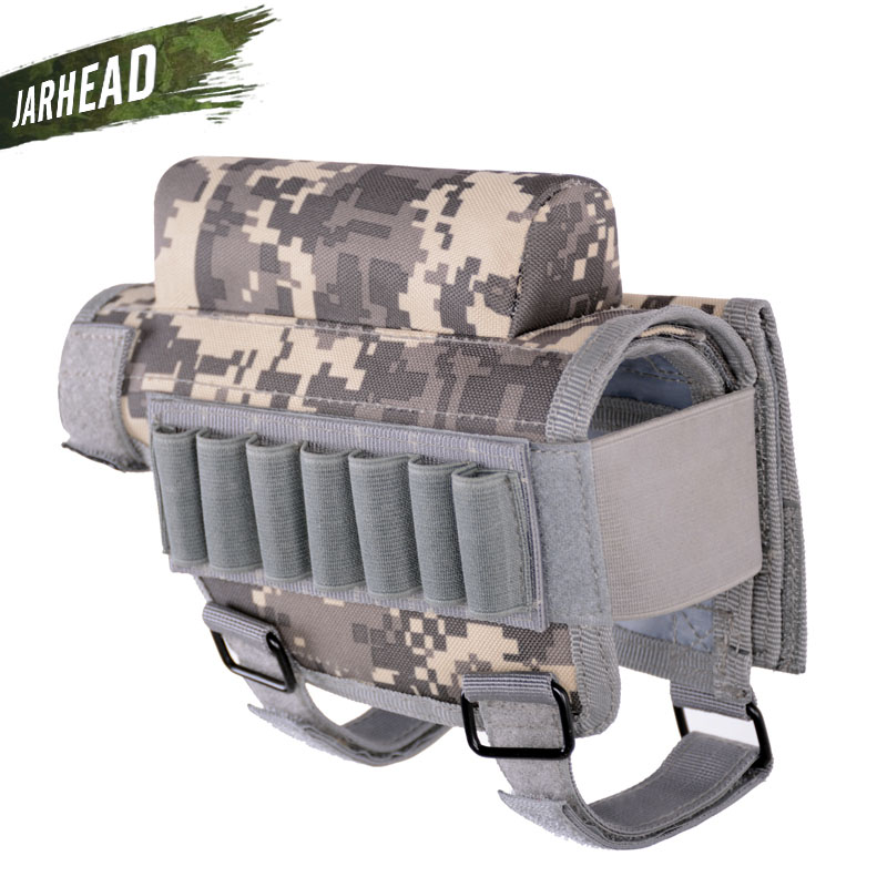 High Quality Portable Adjustable Tactical Butt Stock Rifle Cheek Rest Pouch Bullet Holder Bag Hunting Gun Accessories Pouches