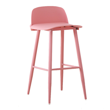 Simple modern wrought iron colored high-end bar stools leisure Western restaurant high bar chairs