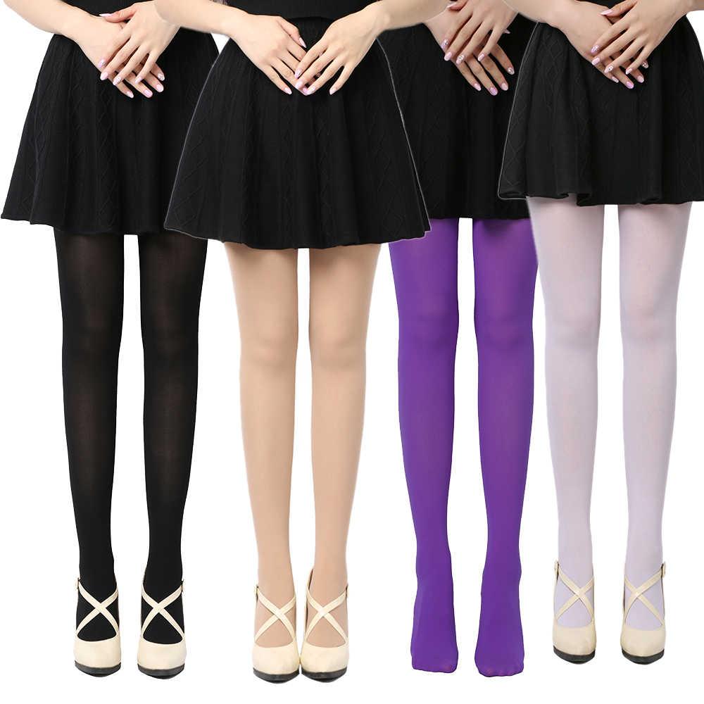 ผู้หญิงสีดำเซ็กซี่กางเกงขาสั้นทึบ Pantyhose 120D ไม่มีรอยต่อฤดูหนาวผู้หญิงฤดูใบไม้ผลิฤดูใบไม้ร่วงถุงน่องไนลอนเท้าหนาถุงน่อง
