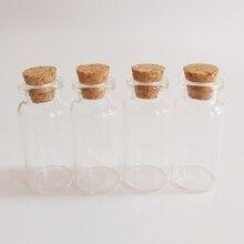 цена на 12ml small glass jar bottle with cork empty Dry goods Home Decorations Storage Clear glass vial wishing bottle 24*52mm 24pcs/lot