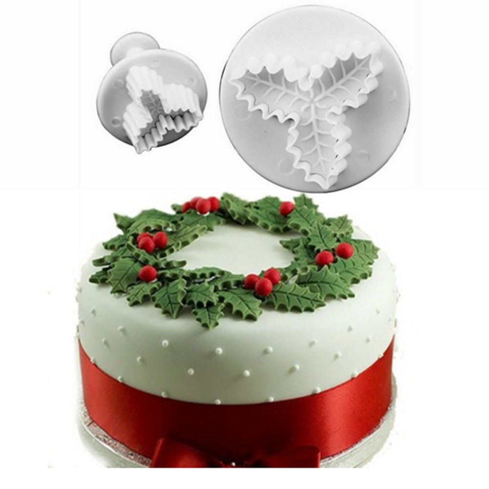3x Heart Cake Decorating Sugar craft Tool Mould Plunger Cutter Icing Fondant New