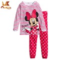 Monkids 2016 Pajamas Set Kids Baby Girl Cartoon Casual Pajamas Kids Children's Kids Payamas for Girls Sleepwear Lovely Outfit