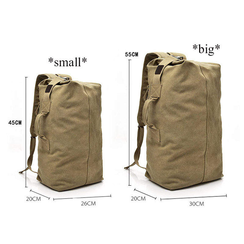 b3adf5291e6 Large Capacity Men Women Travel Bag Military Tactical Climbing Backpack  Army Bags Canvas Bucket Shoulder Sports Bag Male XA595WD-in Climbing Bags  from ...