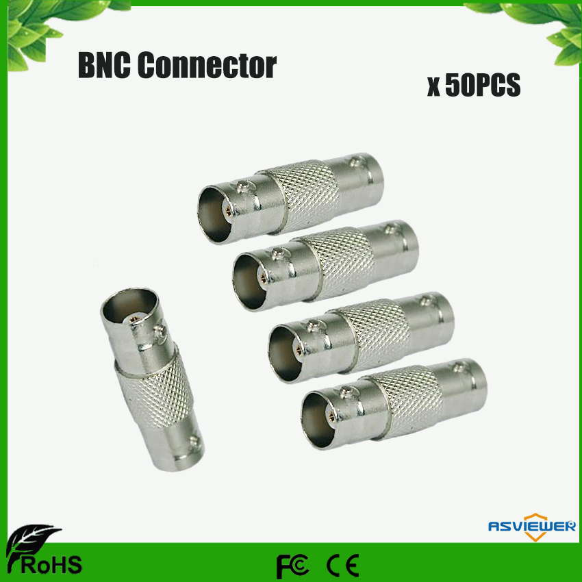 BNC Female To Female Coupler Connector Adapters BNC For CCTV 50pcs/Lot