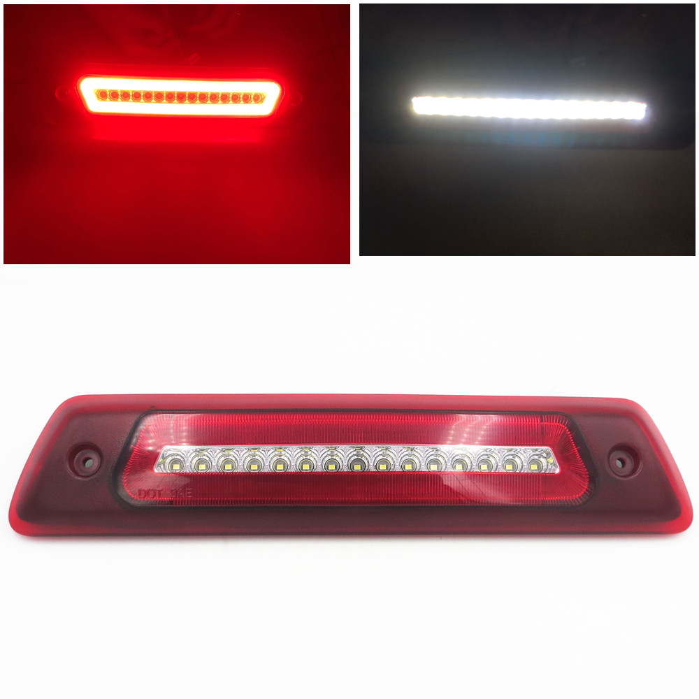 CYAN SOIL BAY For 2009-2015 Ford F150 LED Third Brake Light Backup Signal Light 2010 2011 2012 2013 2014 okeen 2pcs high quality led drl for ford raptor f150 2010 2011 2012 2013 2014 daytime running lights with turn signal lamp 12v
