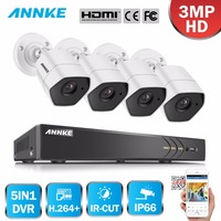 ANNKE Full HD 4CH 5in1 3MP дома наружного видеонаблюдения Системы комплект с 3MP Наблюдения Пуля Всепогодный Камера 3MP H.264 + DVR