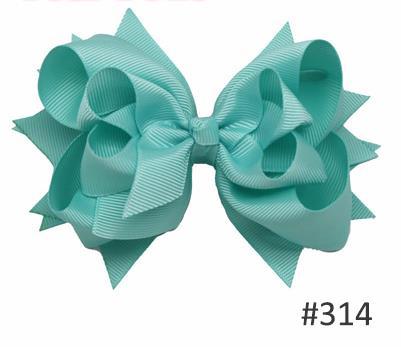 Твои банты 1 шт. 5 дюймов для девочек Однотонные бантики для волос Заколки для волос с бантом из ленты на каблуке высотой заколки для волос для детей Головные уборы Fastion женские аксессуары для волос - Цвет: 314aqua