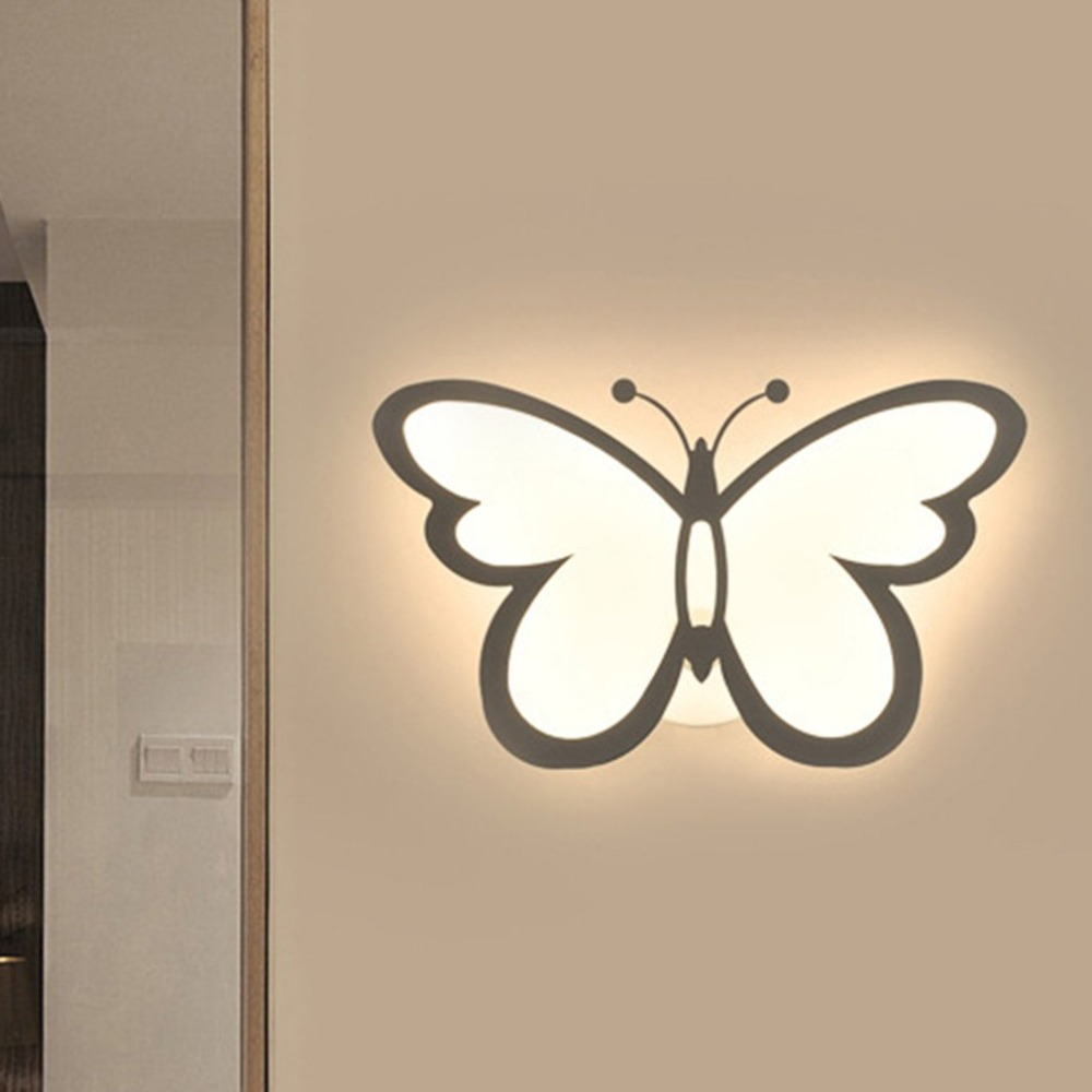 Butterfly Shape Super Bright Bedside Bedroom Wall Light Corridor Aisle Lamp Home Decoration