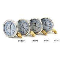 PCP Paintball Airsoft 40bar 400bar 63MM High Pressure Gauges Liquid Oil Filled 2 5 Lower Mount