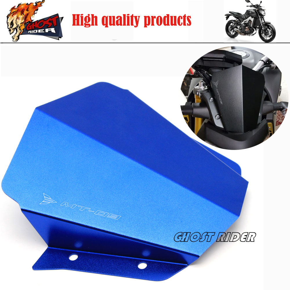 Blue Motorcycle Accessories Motorbike Windshield Windscreen fits For Yamaha MT09 MT-09 2014-2015 FJ-09 MT-09 Tracer 2015