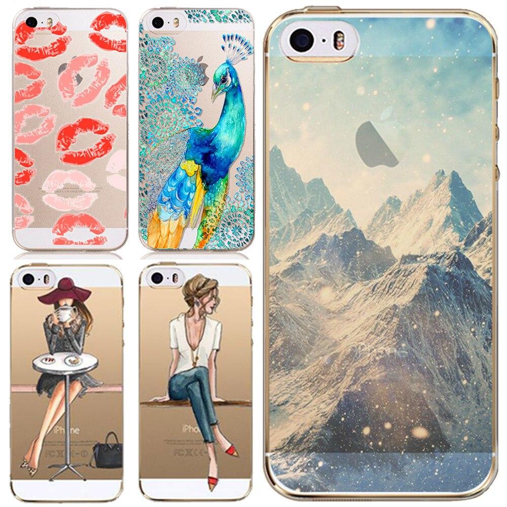 Телефон случаях Обложка для Apple iPhone 5 5S 5 г SE супер тонкий мягкий ТПУ Ясно задняя кожи для iPhone 5S телефон аксессуары оптом