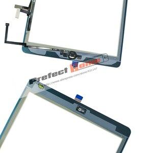 Image 5 - ทดสอบดีสำหรับiPad Air1 Touch Screen Glass Digitizer & กาว + Home Flexcableเสร็จA1474 A1475 A1476