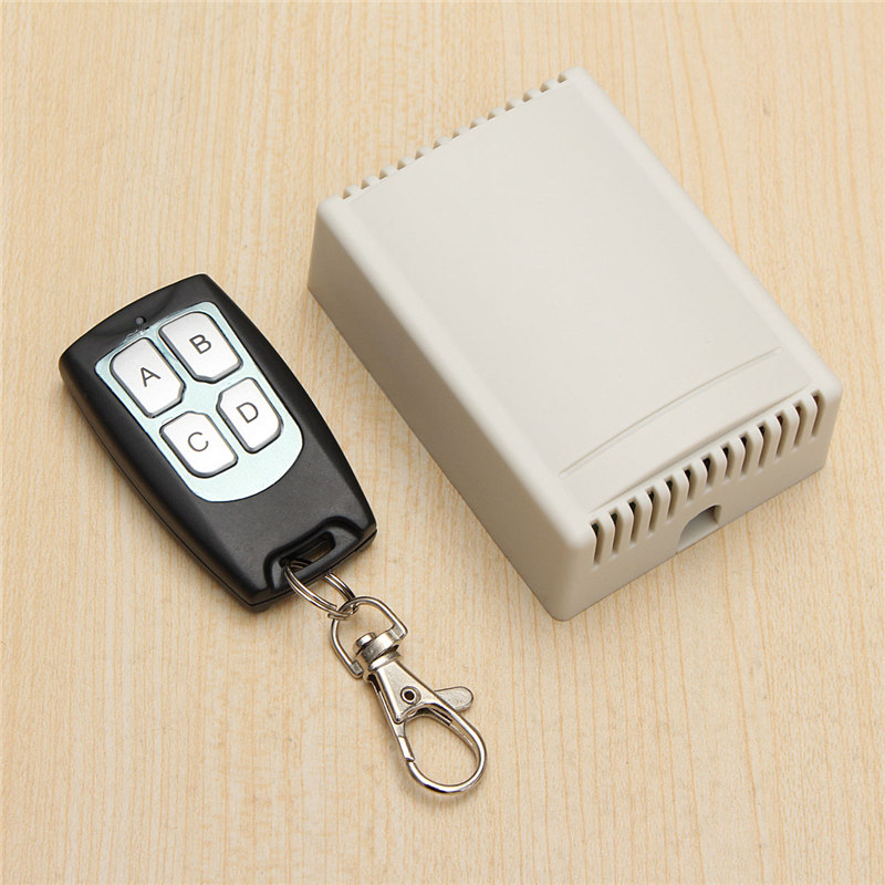 Most Popular DC 12V 4CH Small Channel Wireless Remote Control Controller Radio Switch 433mhz 200m Transmitter Receiver