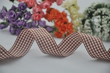 Free shipping,1″(25mm) width,styles polyester scottish tartan ribbon,coffee gingham ribbon,bow decorative