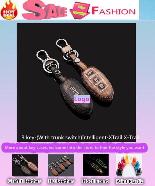 Высокое качество для XTrail X оптово-trail автомобиль стайлинг обложка детектор кожа радиобрелоками сумки чехол интеллектуальные / складной граффити специальный