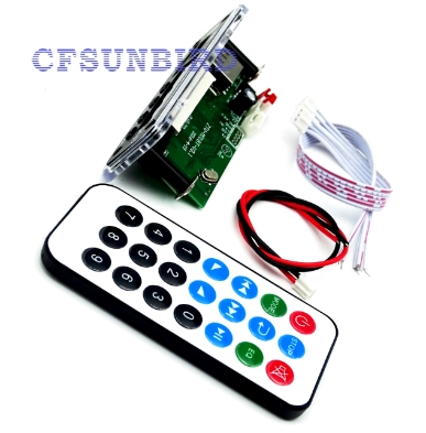 Free Shipping Bluetooth MP3 Decoding Board Module w/ SD Card Slot / USB / FM / Remote Decoding Board Module M011 dc 5v bluetooth audio receiver module usb tf sd card decoding board preamp output support fat32 system