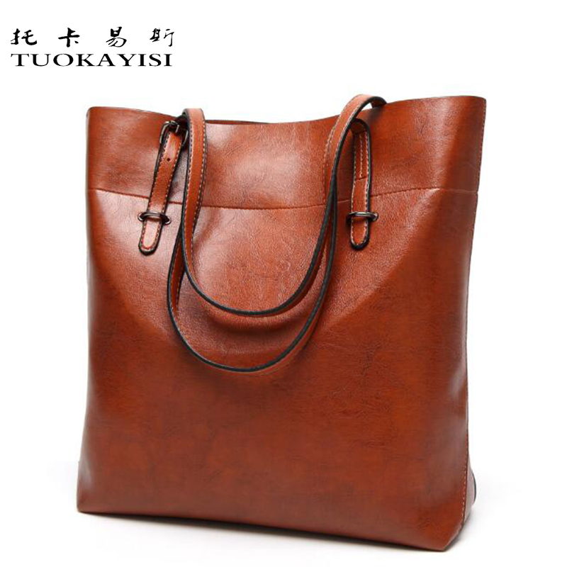 tuokayisi Large Leather Tote Bag 2017 Luxury Women Shoulder bags Fashion Women Bag Brand Handbag Ladies bags Bolsa Feminina