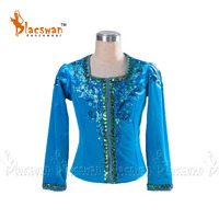 Blue Bird Professional Ballet Tunic Costume BT795 Classical Ballet Jacket Outfit Top for Boy's Blue Male Ballet Costume Tops Men