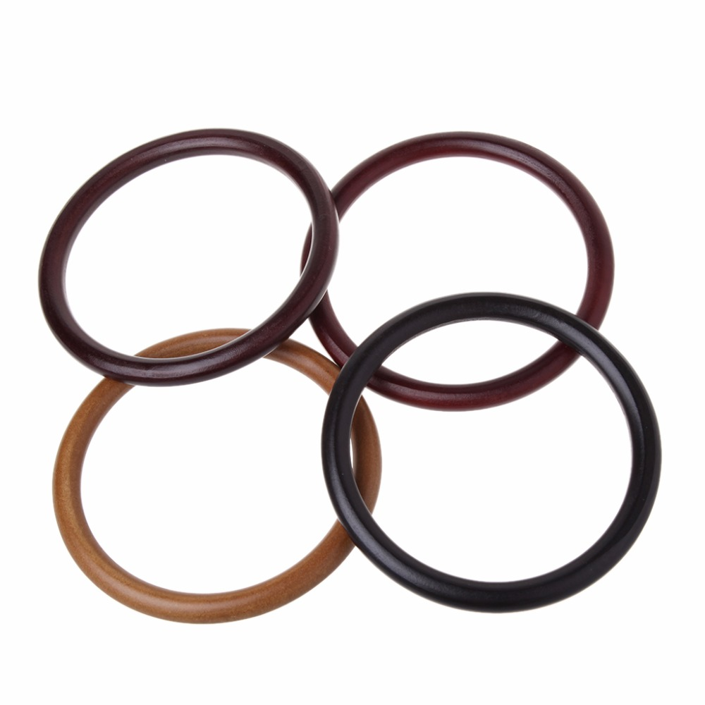 THINKTHENDO 4 Color Round Wooden Handle for Handmade Handbag DIY Tote Purse Frame Making Bag Hanger High Quality Hot